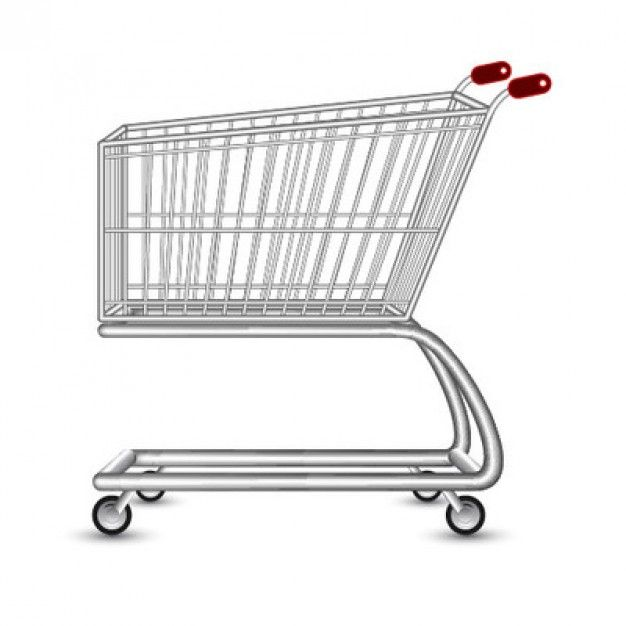 empty shopping cart in 3d illustrations pinterest 3d