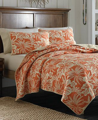 Tommy Bahama Home Hanalie Hibiscus Coral Quilt Collection For The Guest Room Home Tommy Bahama Bedding Tommy Bahama Home