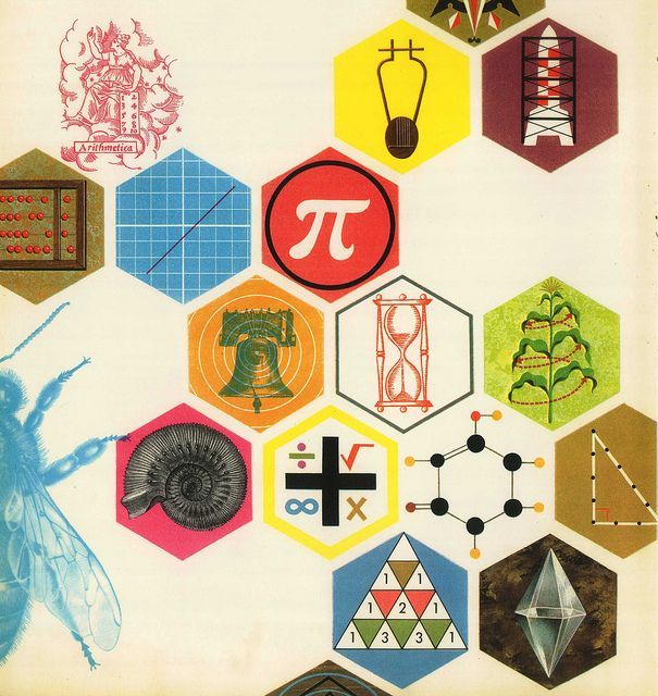 Science Book Cover Design Examples : Retromath science illustration math and illustrations
