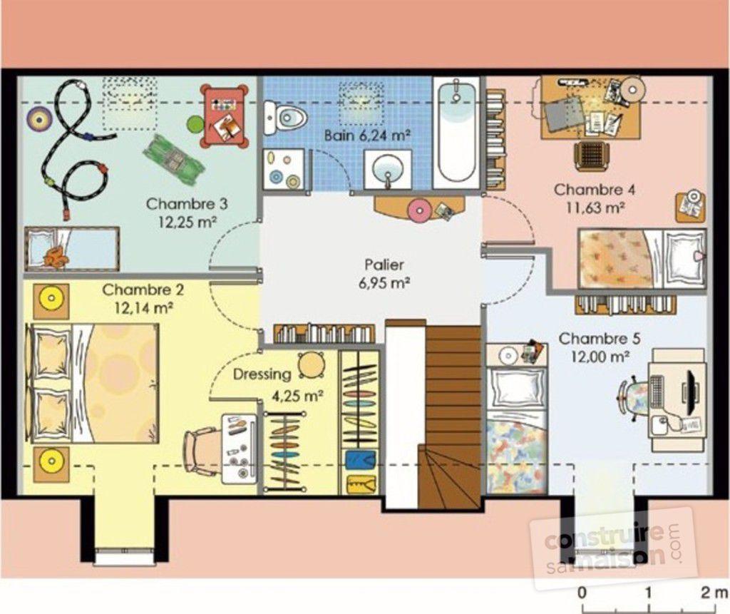 Plan habill etage maison maison pour budget moyen maison house plans french house - Plan maison avec etage ...