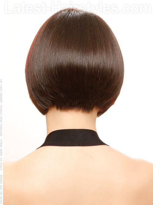 haircutsbackview  Tailor Made Bob Sleek Hairstyle Back View