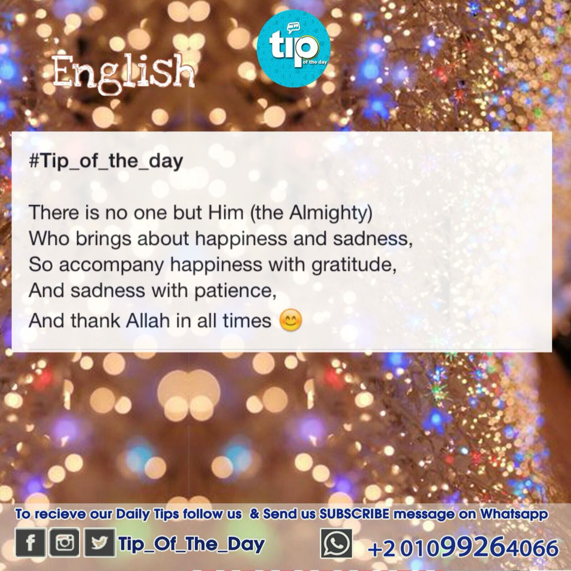 Thank Allah in all times :) #tip_of_the_day #life #daily #sunan ...