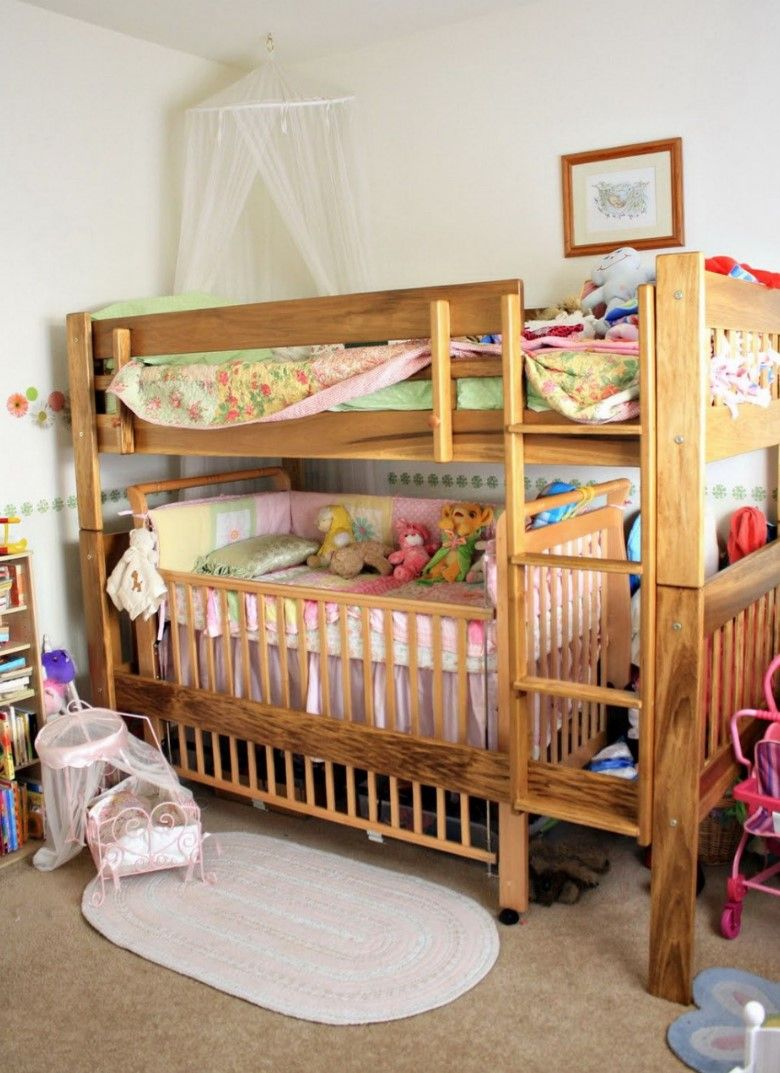 Bunk Bed With Crib Underneath Make It More Jhome Design