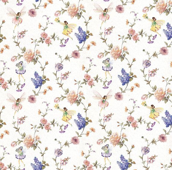 Dolls House Wallpaper 1//12th 1//24th scale Green Floral Quality Paper #349