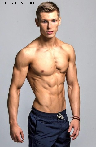 Muscular Slim Body Man