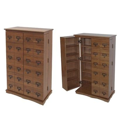 Leslie Dame Library Style Multimedia Cabinet   Walnut   $259.99