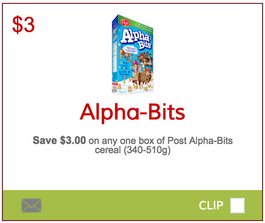 Alpha-Bits Canada Coupons: Save $3.00 On Any Box Of Post