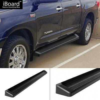 "Premium 6"" Black iBoard Side Steps Fit 07-16 Toyota Tundra CrewMax Cab"