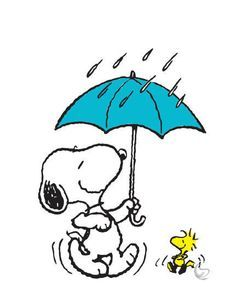 Free Of Snoopy In Rain Clipart ... | Woodstock | Snoopy ...