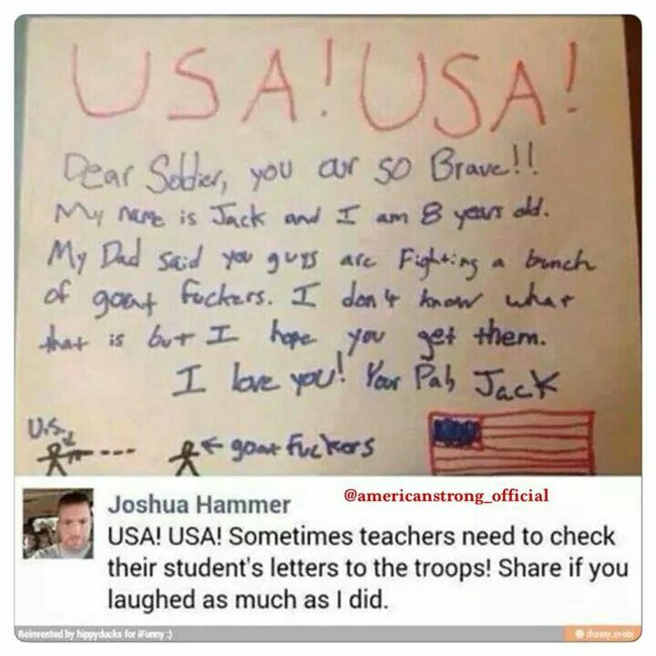 Letter to Soldierfalling over laughing! Great ! Just Great