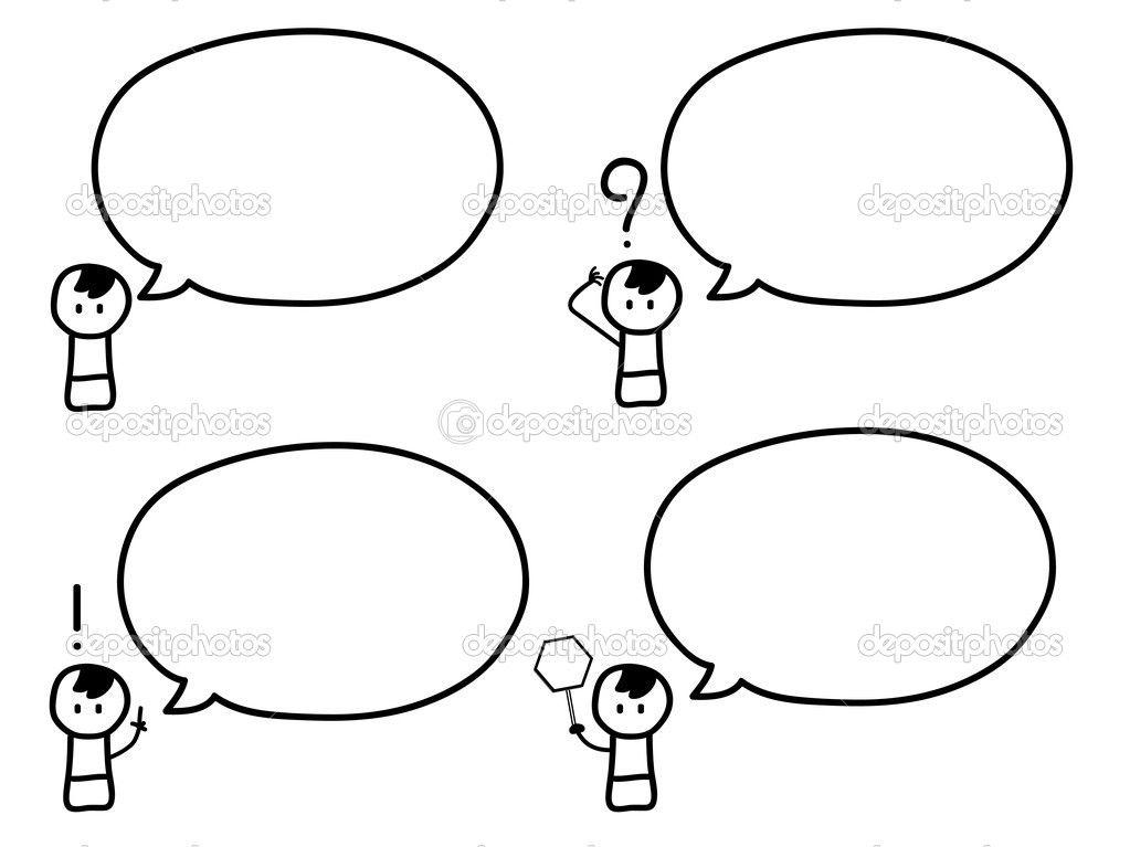 Cartoon of cute boy with speech bubbles — Stock Vector