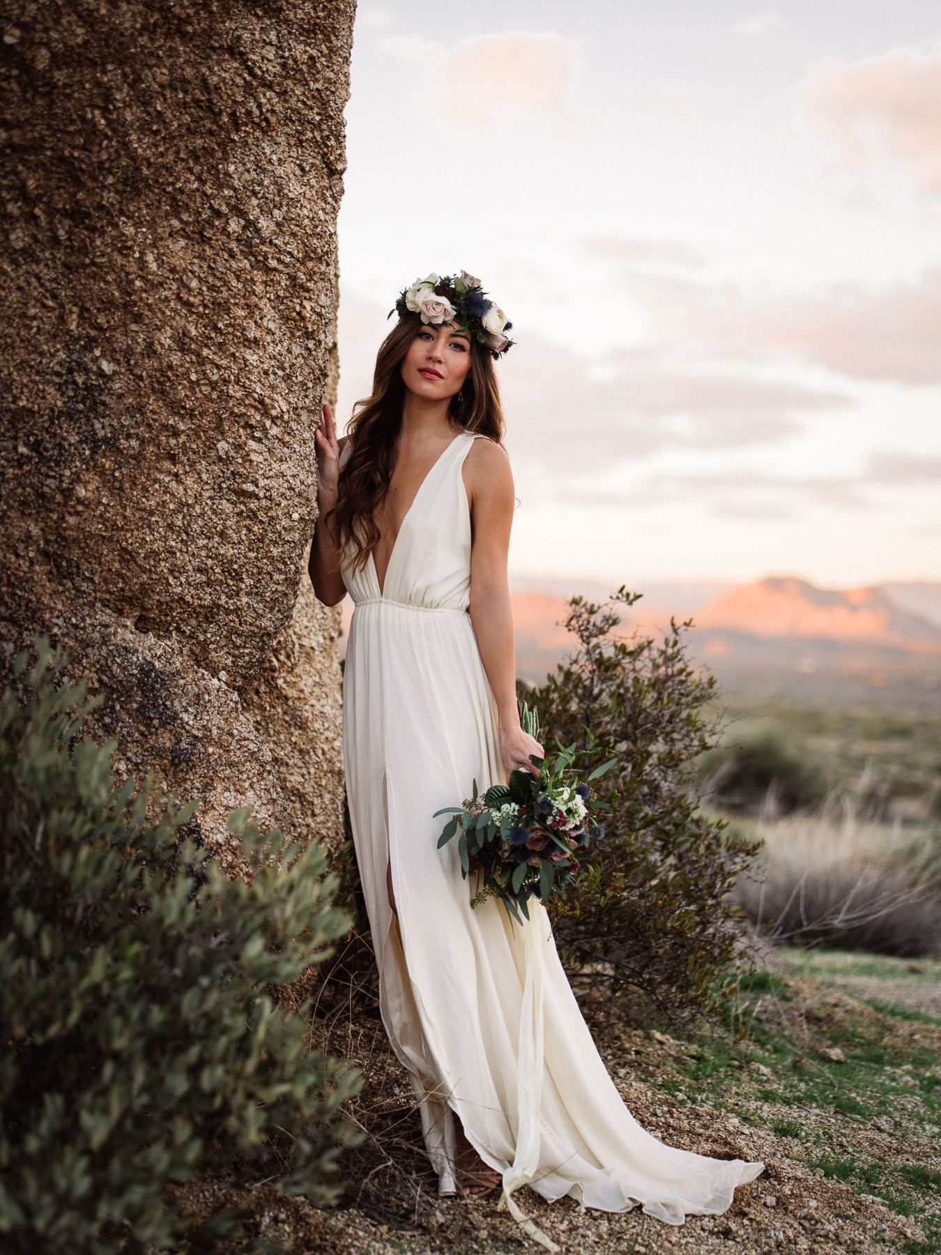 Arizona desert styled shoot with Elizabeth Dye Dress // Wedding ...