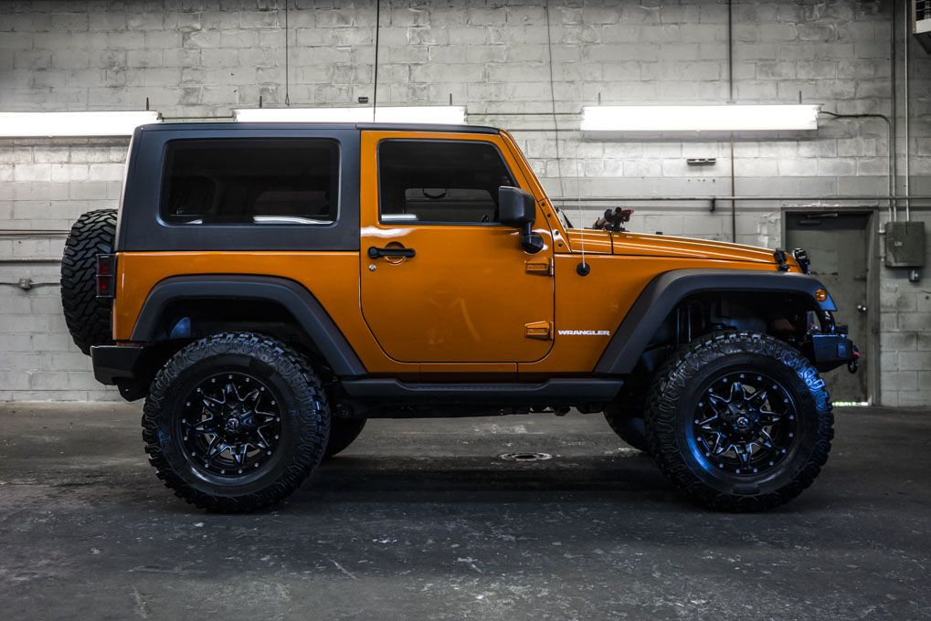 Lifted Orange 2010 Jeep Wrangler Sport 4x4 For Sale