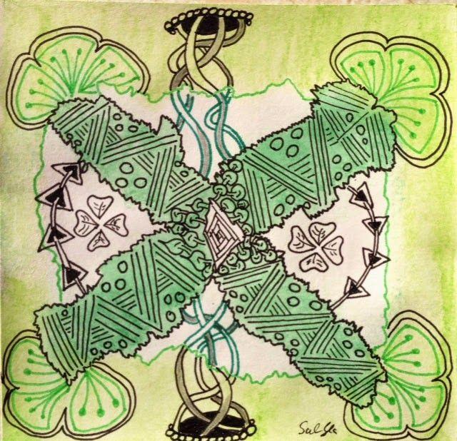 Lieschens-Bilder: Zentangle 211    Weekly Challenge #209