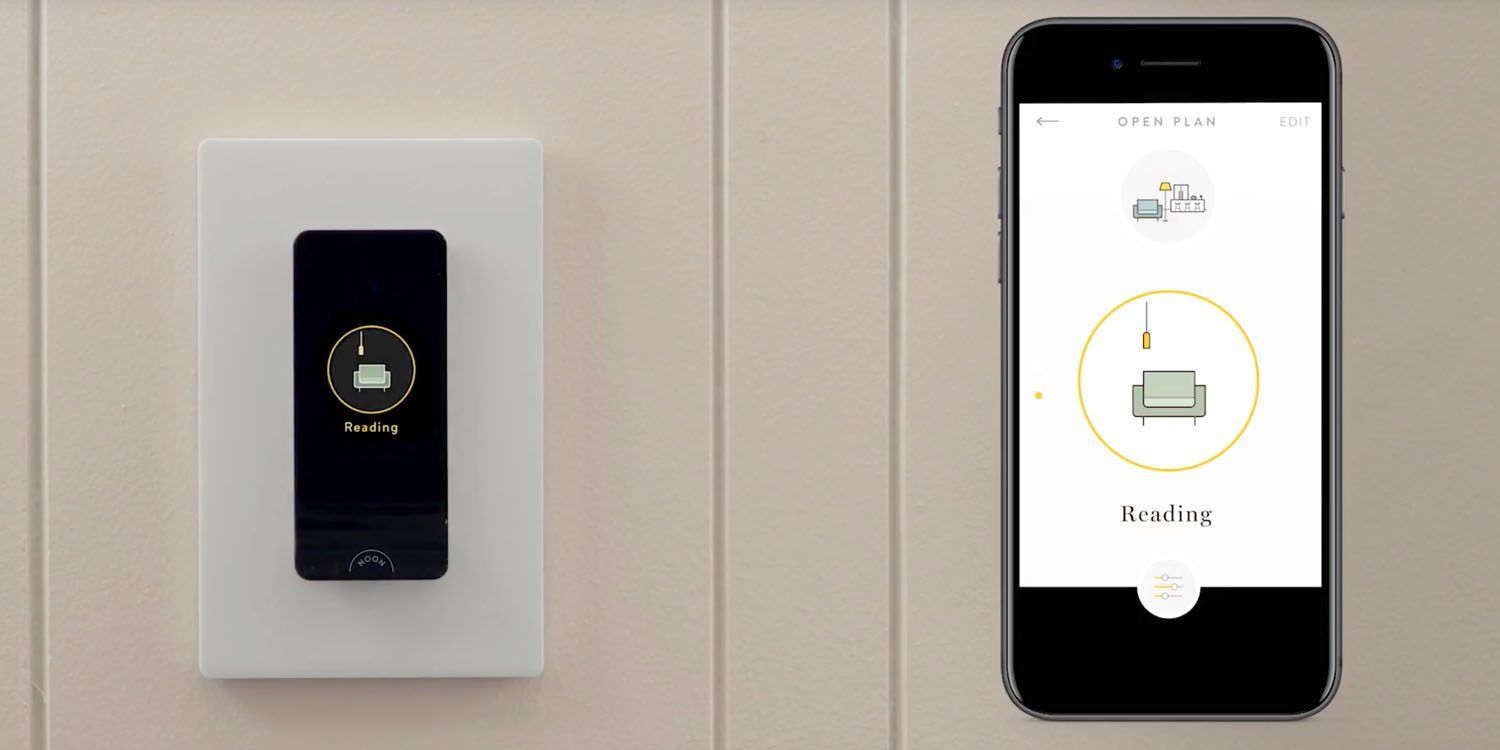 Noon Smart light switch w. built-in OLED panel - syncs all lights in ...