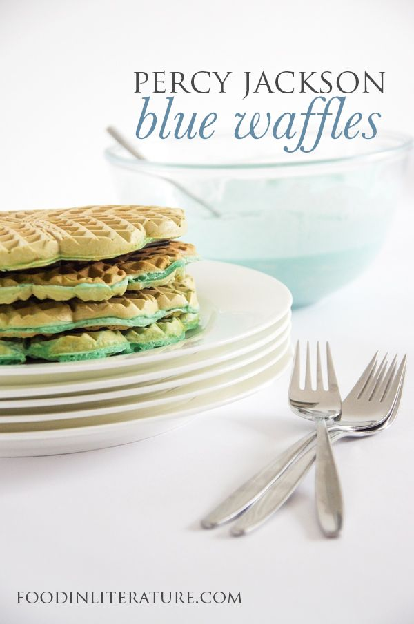 My mom made blue waffles and blue eggs for breakfast  She's funny