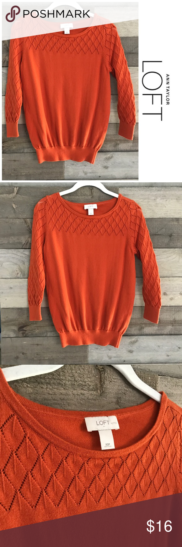 LOFT Burnt Orange Sweater | Lofts and Customer support