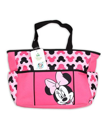 Loving This Pink Black Minnie Mouse Diaper Bag On Zulily Zulilyfinds