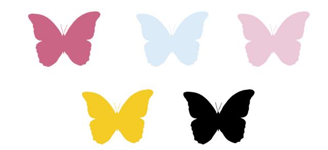 Plantillas de mariposas para decorar paredes imagui manualidades ni os pinterest - Mariposas para decorar ...