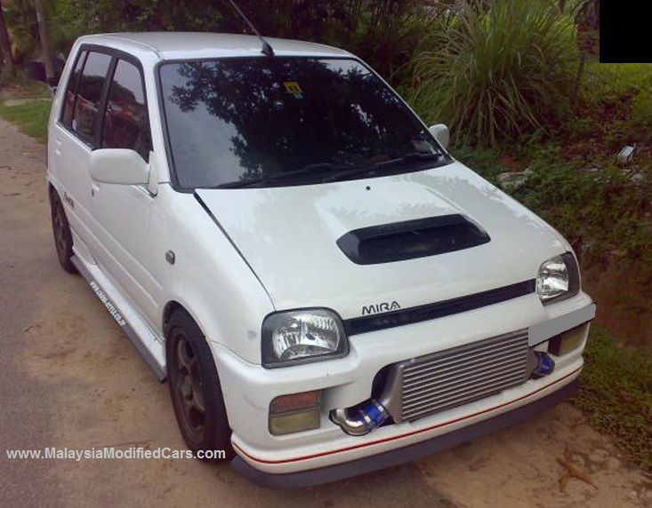 Modified Perodua Kancil Daihatsu Mira Turbo With Huge