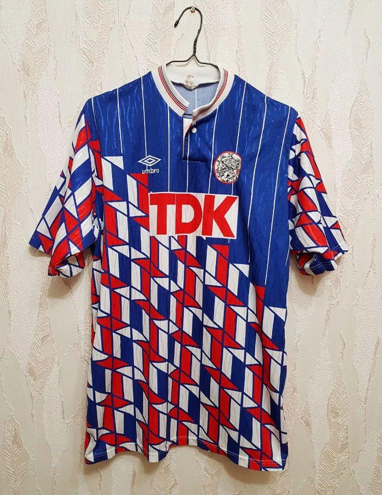 34b871162a4 1989/1990 Ajax Match Worn Dennis Bergkamp Umbro Away Football Shirt ⚽ ⚽️