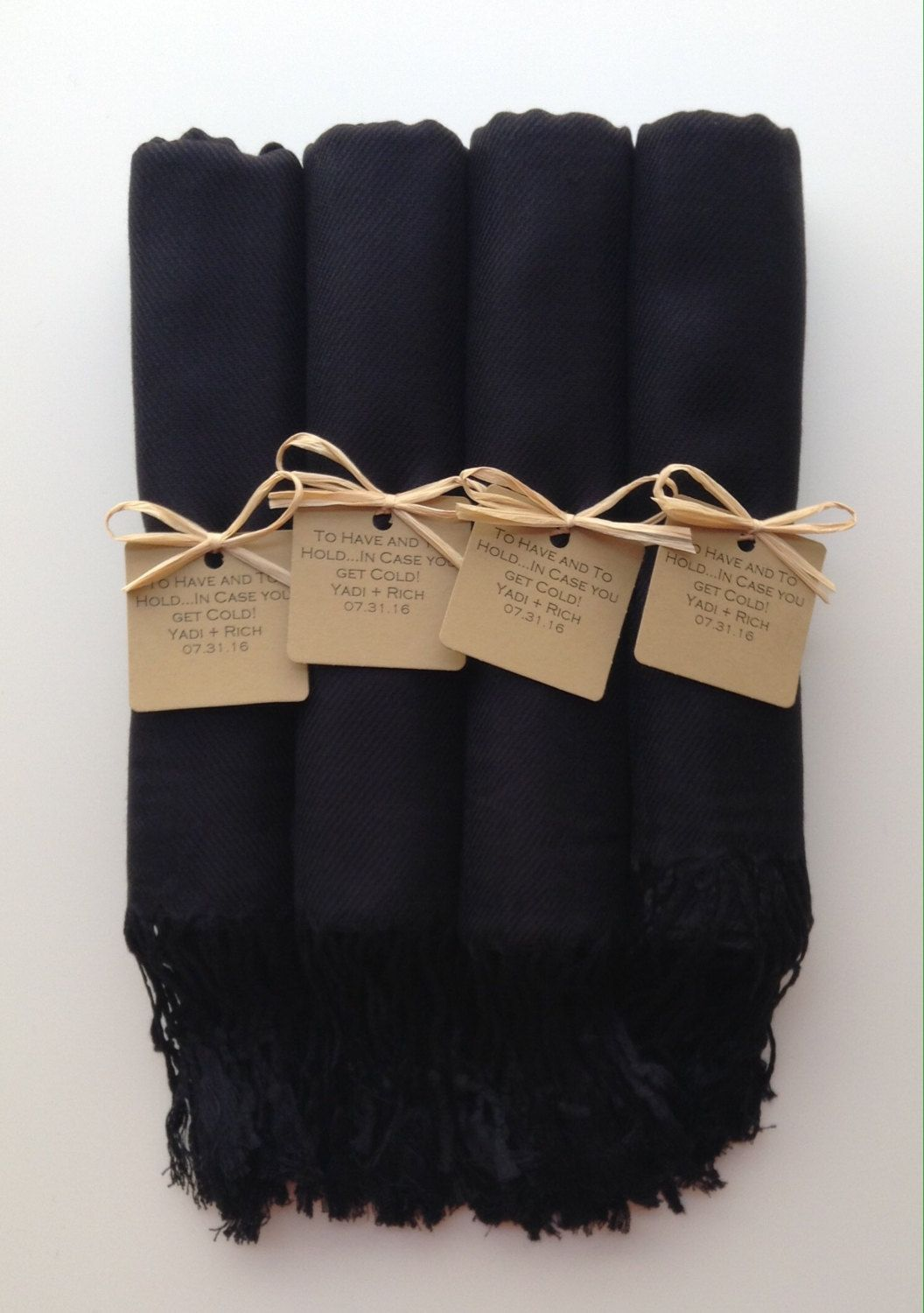 ab59b4bf3280 #favorTags Set of 4 Black Shawls with Kraft Favor Tags Pashmina Wedding  Favor Bridal Shower Gift Bridesmaids Gift Wraps Welcome Bags Wedding Favor  Gift ...