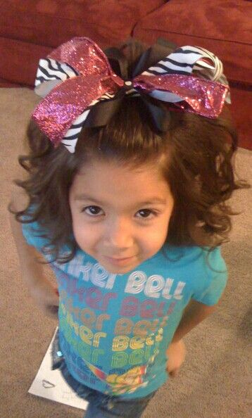 Little Girl Hairstyle Cheer Leading Bow Toddler Dance