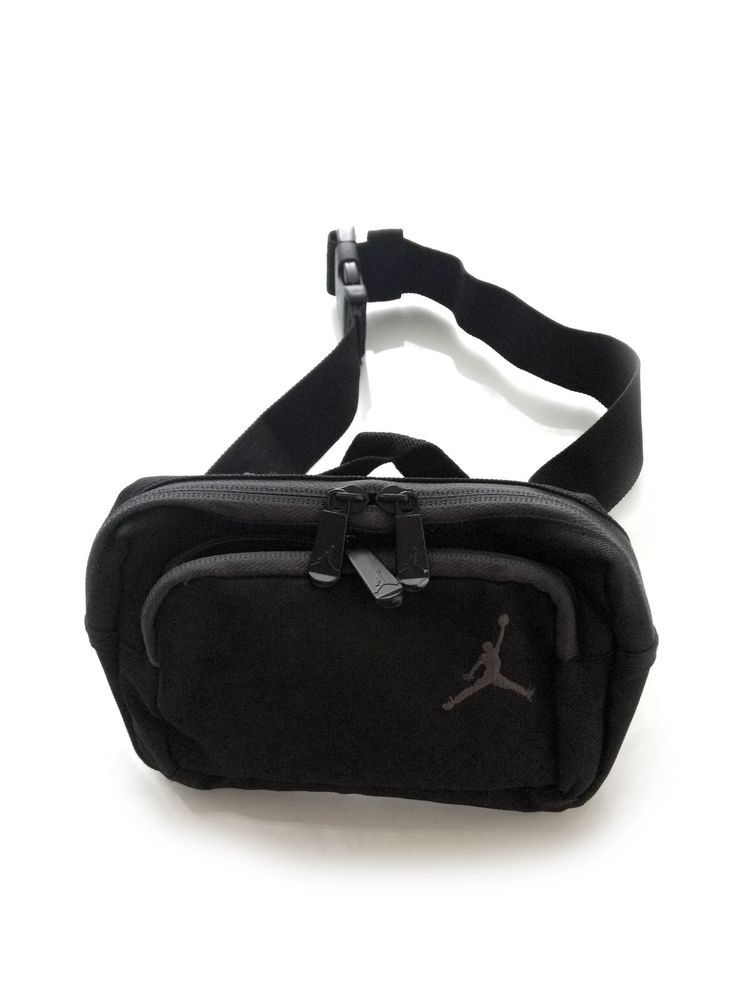 56ef3e2e110e Nike AIR JORDAN JUMPMAN Fanny   Waist   Shoulder Carry All Pack Black Gray   Nike  FannyWaistPack  LuxeCella
