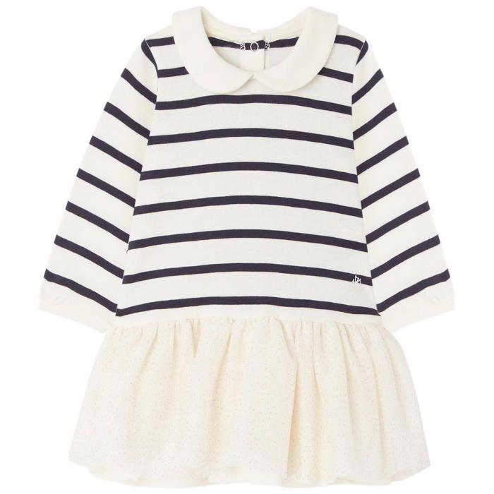 Petit Bateau - Striped bi-material dress - 203491