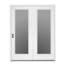 Shop Reliabilt 71 5 In 1 Lite Glass Steel Center Hinged Inswing Patio Door At Lowes Com Hinged Patio Doors Patio Doors French Doors Patio