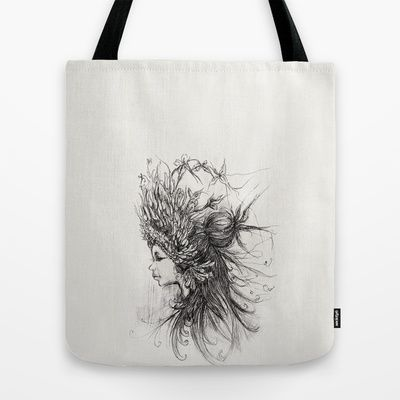 Girl  Tote Bag by Bear_Bare