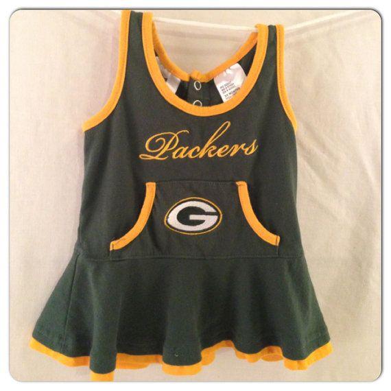 Green Bay Packers Kids Girls Cheerleader Outfit