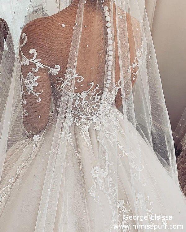 George Elsissa Lace Wedding Dresses #wedding #weddings #weddingideas #dresses #w… – Moda