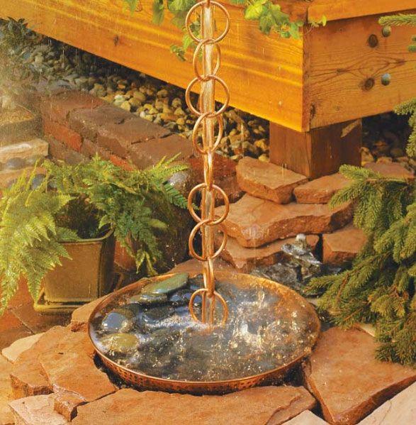 17 Brilliant Rain Chain Ideas Rain Chain Garden Water Fountains Water Garden