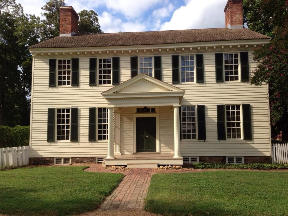 The grissel hay house in colonial williamsburg in geddy for Williamsburg exterior paint colors