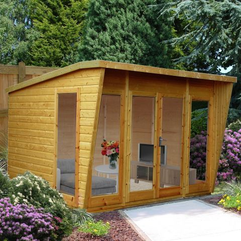 pinnacle 10ft x 10ft 306m x 299m highclere summerhouse next day delivery - Garden Sheds Quick Delivery