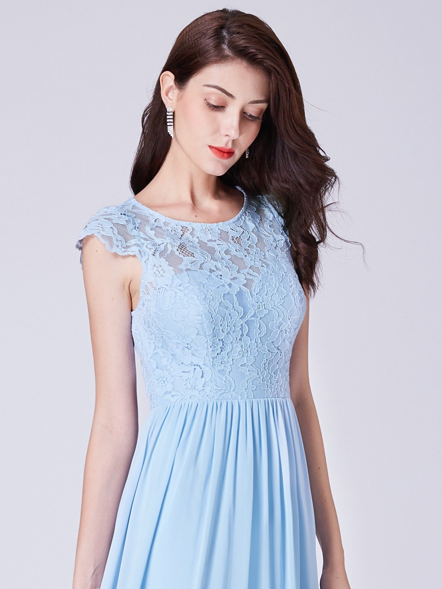 Long bridesmaids dress with lace bodice bridesmaids dresses and