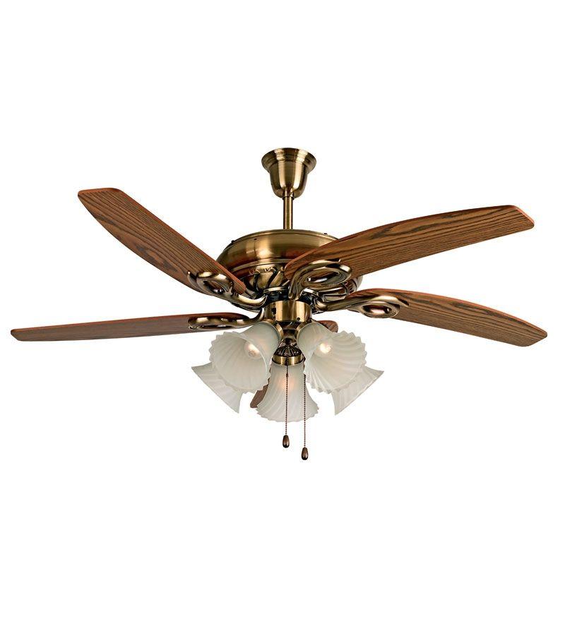 Khaitan Fantasy Brown And Bronze 52 Inch Ceiling Fan Ceiling Fan