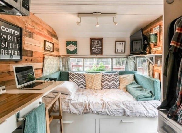 1962 Vintage Camper In Austin Is Transformed Into A Vibrant Cozy