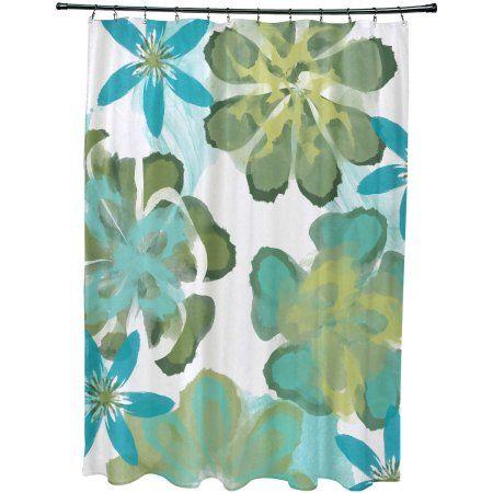 Home Shower Curtains Walmart Floral Prints Custom Shower