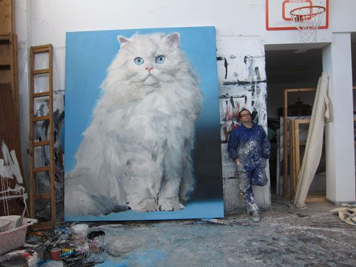 Giant cat says hi
