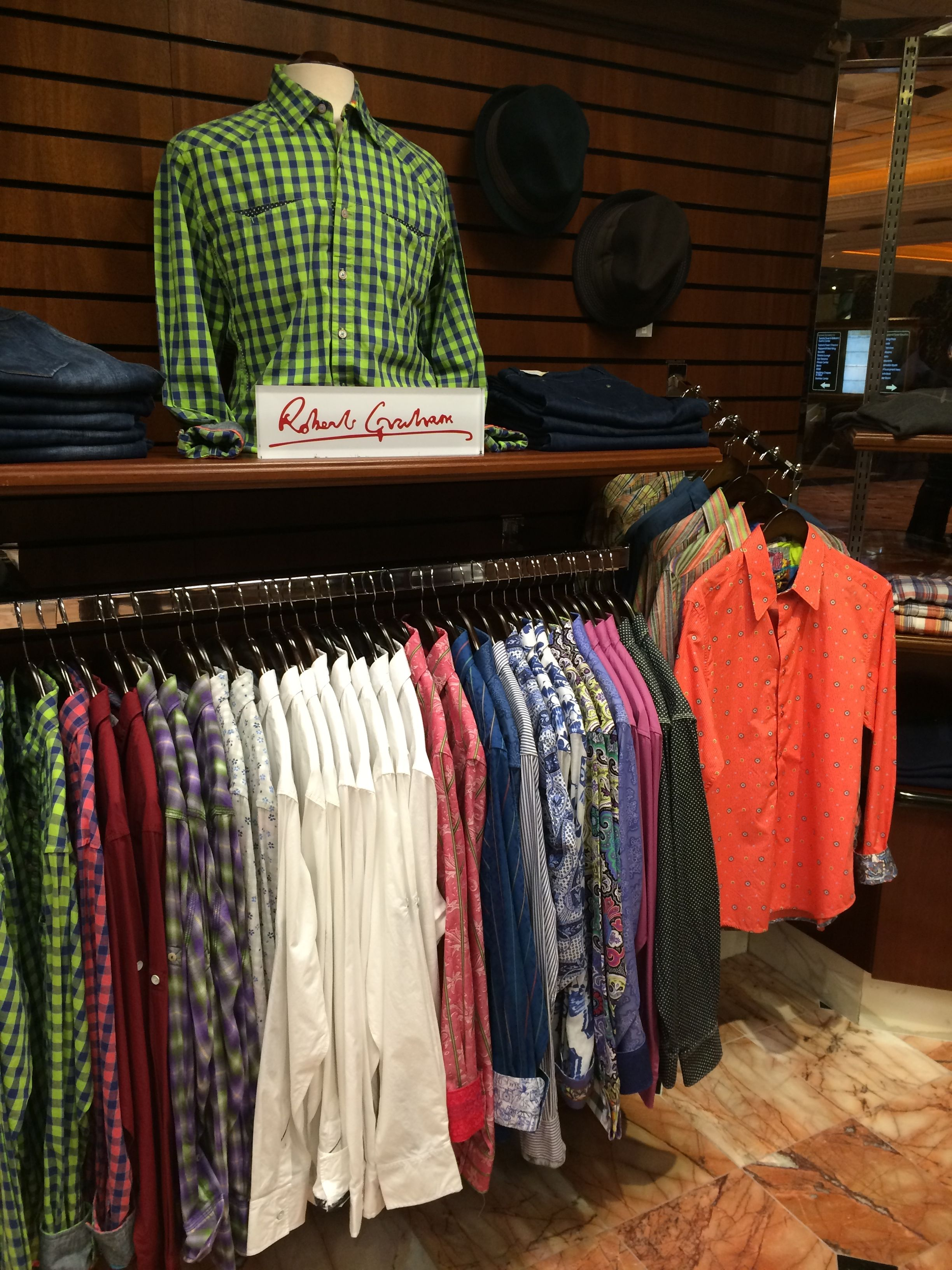 Get a unique Robert Graham button up shirt for a night out!