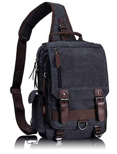 Leaper Cross Body Messenger Bag One Shoulder Backpack Travel Rucksack Sling Canvas Crossbody
