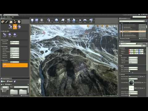 ▷ Unreal Engine 4 Twitch Broadcast - Landscape Mountains