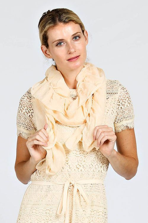 SOLID RUFFLED SCARF