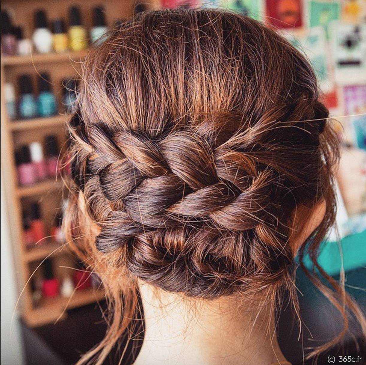 Hairstyle updo wedding hairstyle braid brown hair c