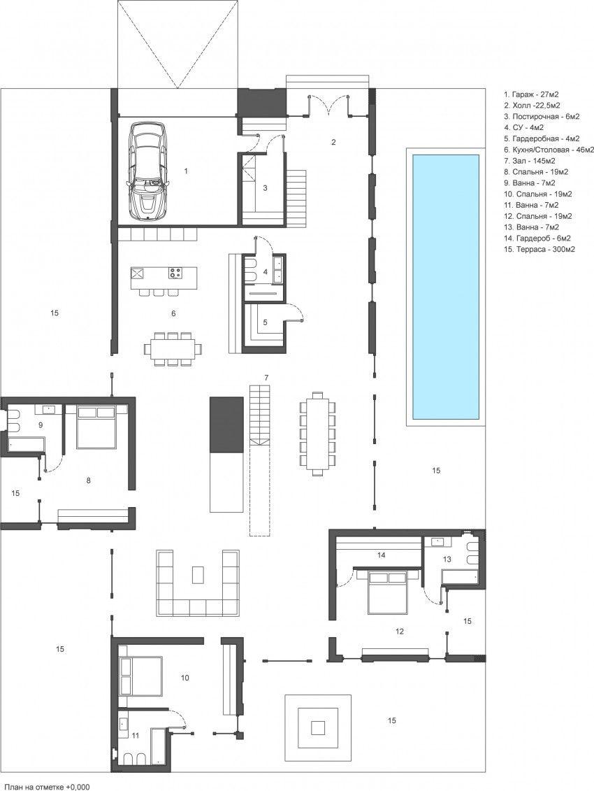 Kpa Su Creates A Visualization Of A Villa In Moscow Villa Architecture Plan House Plans