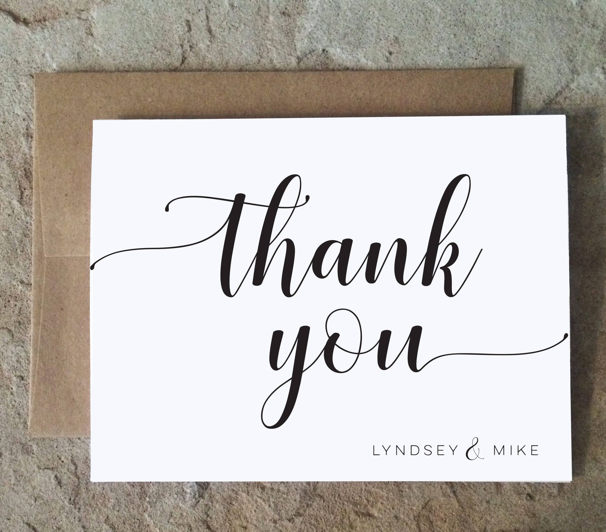 Wedding Thank You Cards Shower Thank You Notes Graduation