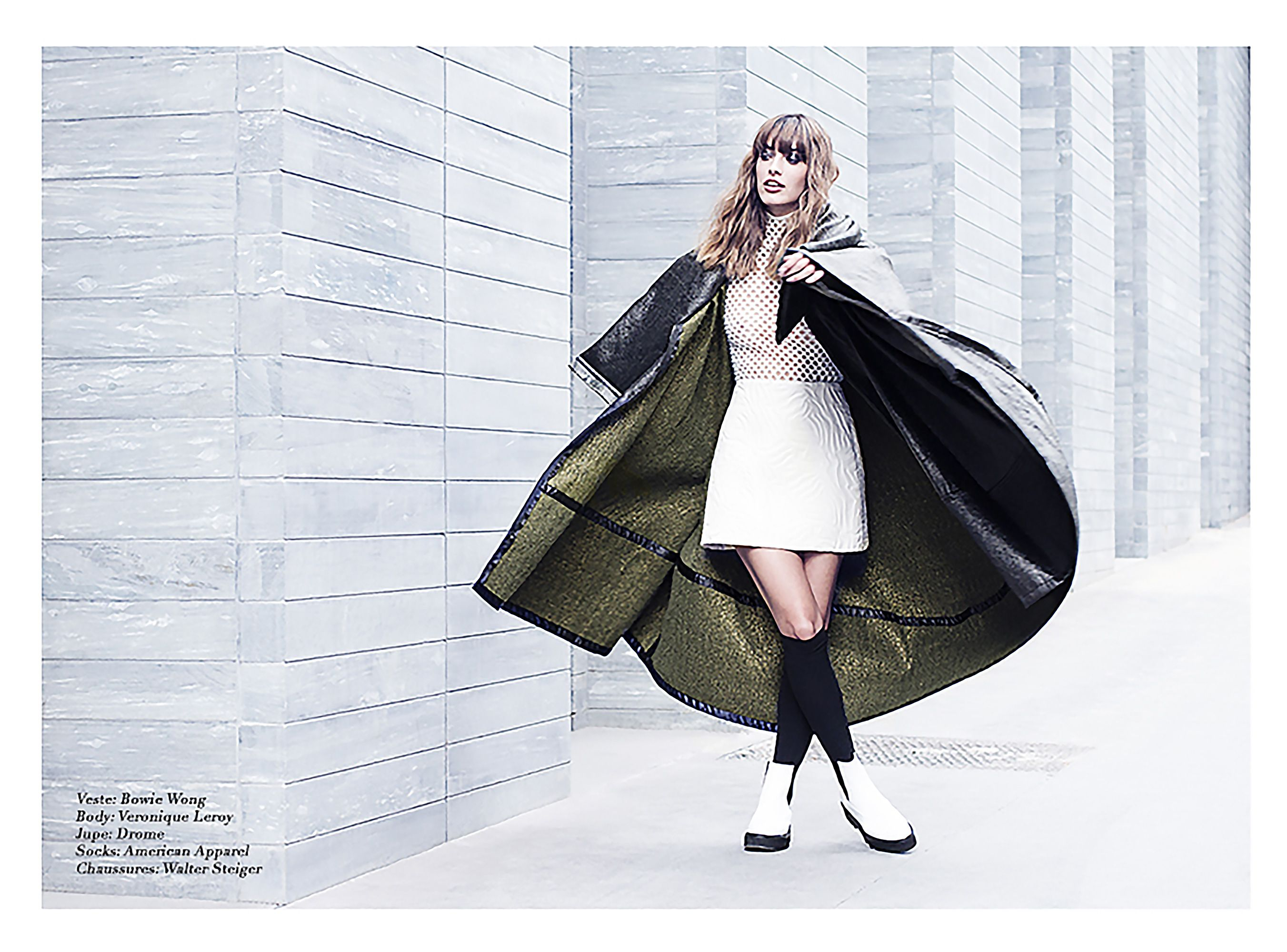 DROMe embossed leather skirt featured Make the Trendz magazine