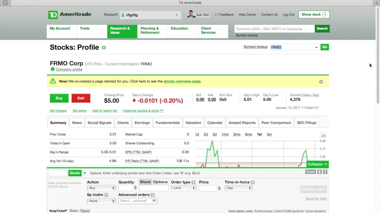 How To Find And Buy Penny Stock W Td Ameritrade 3 Min Penny